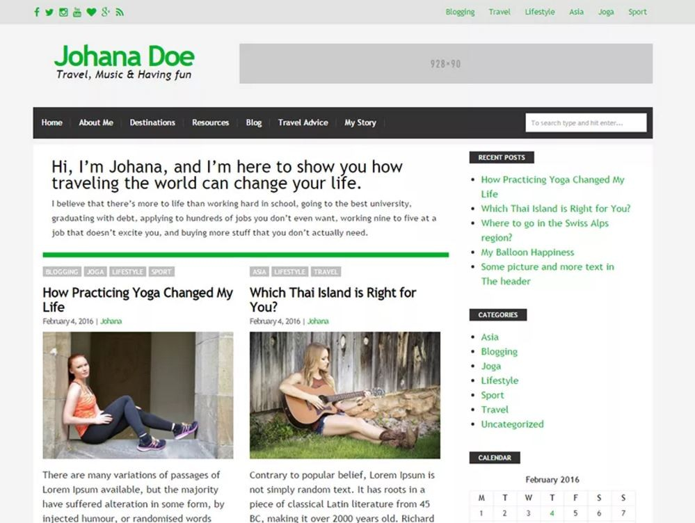 Blog Start. Шаблон для привлекательных блогов на WordPress. 31e22f298b5