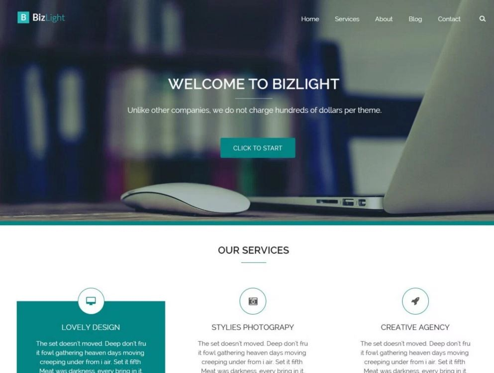 Bizlight. Замечательный шаблон для сайтов на WordPress.
