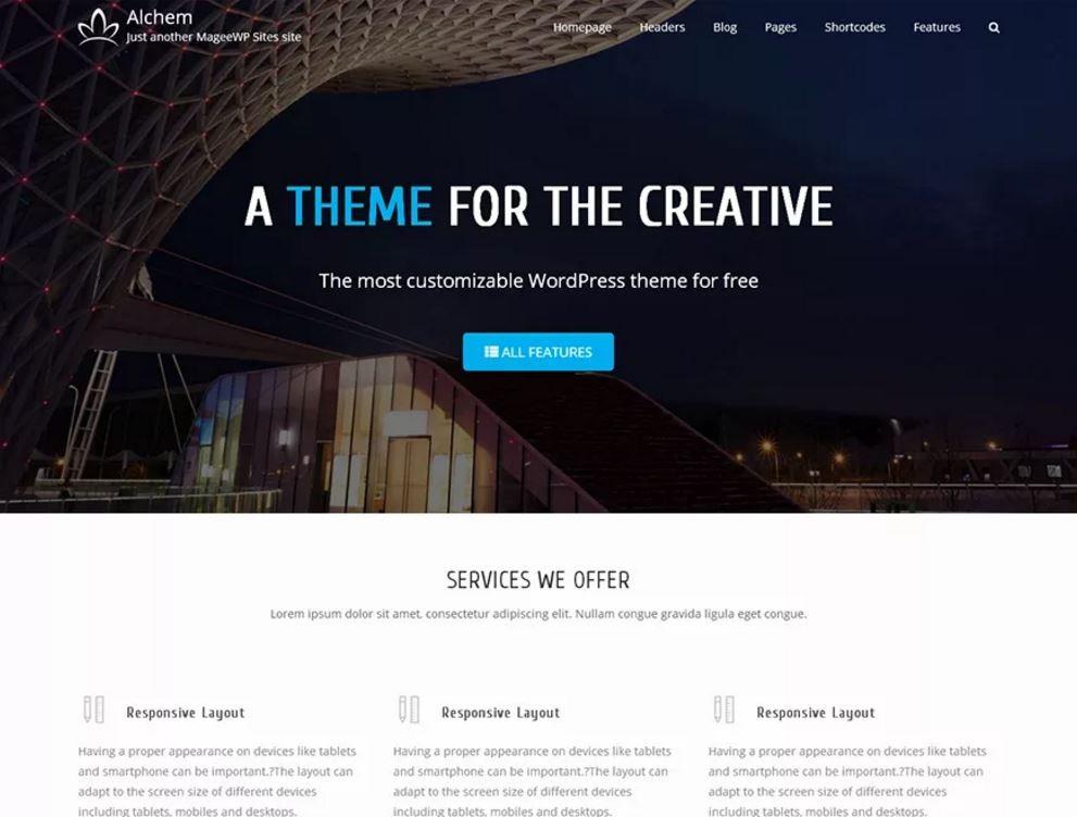 Яркий бизнес-шаблон для сайтов на WordPress. 349ea0c20e0