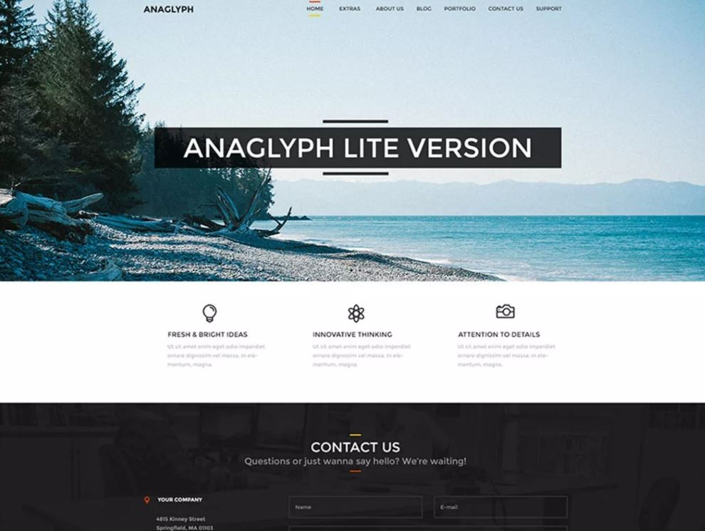 Anaglyph Lite. Универсальный шаблон для сайтов на WordPress.