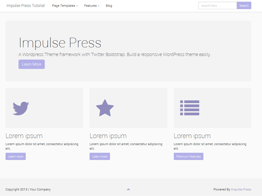 Impulse Press. Шаблон для сайта СМИ на WordPress