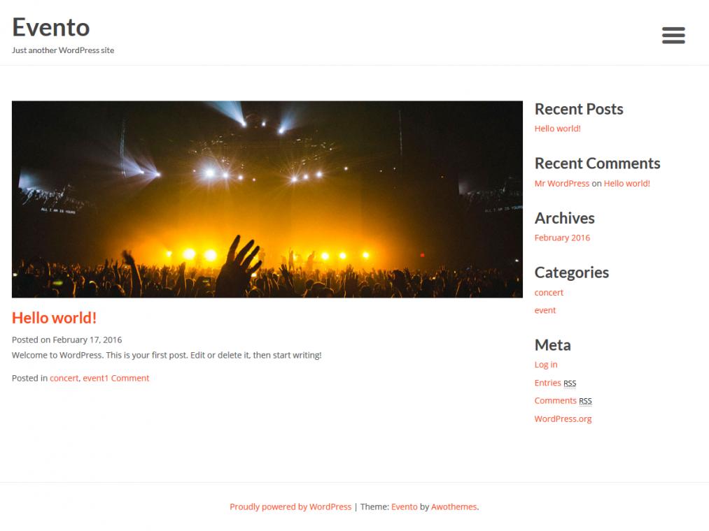 Evento. Шаблон для событийных сайтов на WordPress. 8fea03da7b0