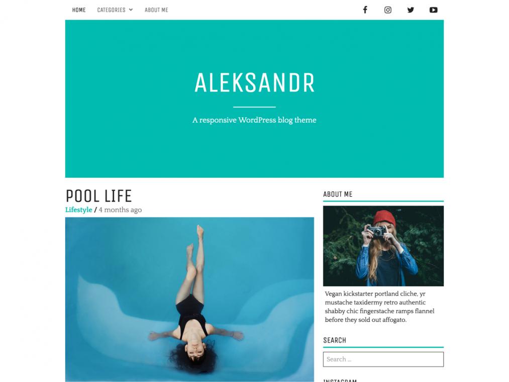 Минималистичный стильный шаблон для сайтов на WordPress. 4563b58a5bd
