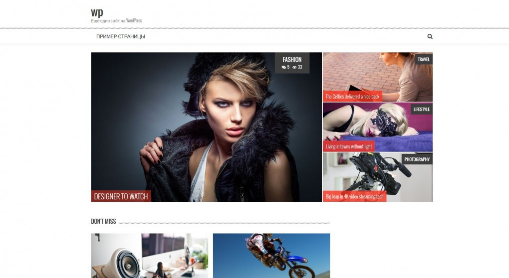 Accesspress Mag. Шаблон для сайта модного журнала на WordPress. 22f5b5c0f26