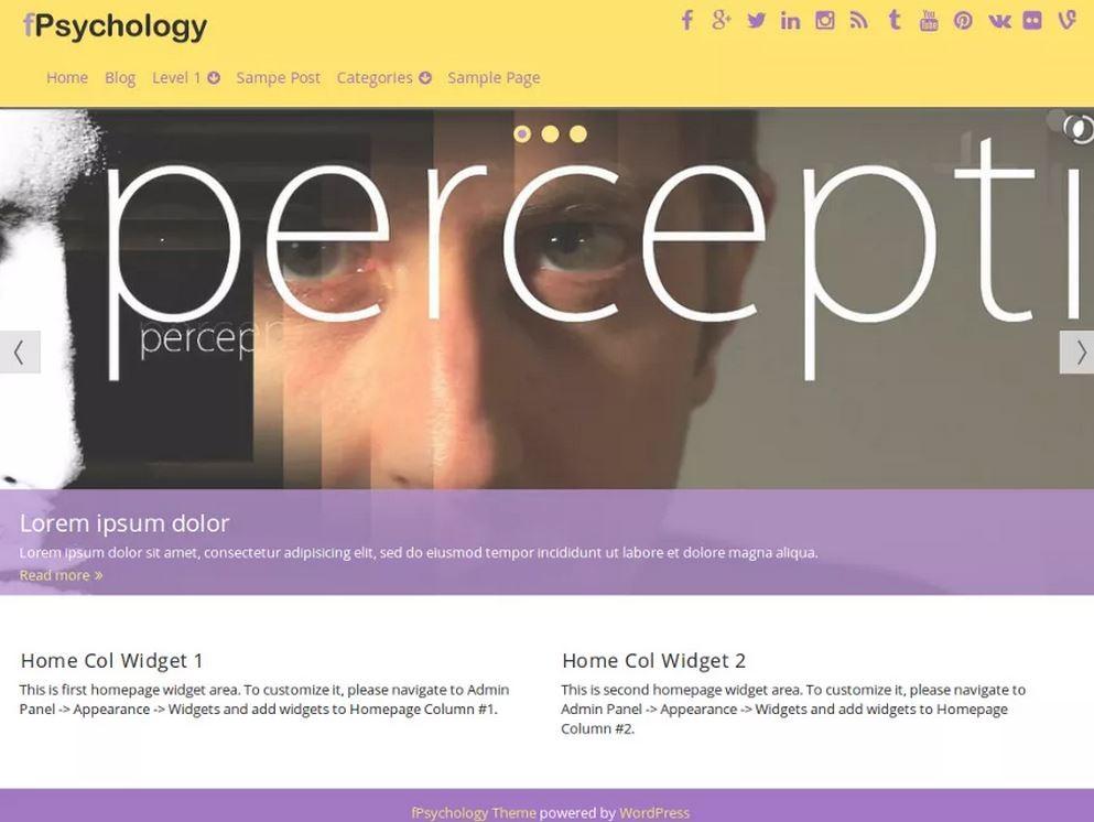fPsychology. Шаблон для сайта клиники на WordPress. 73e21d289e1