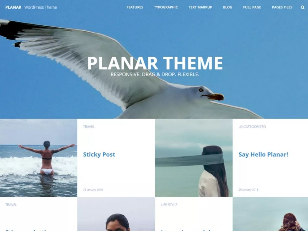 Planar Lite. Шаблон морской тематики для WordPress.