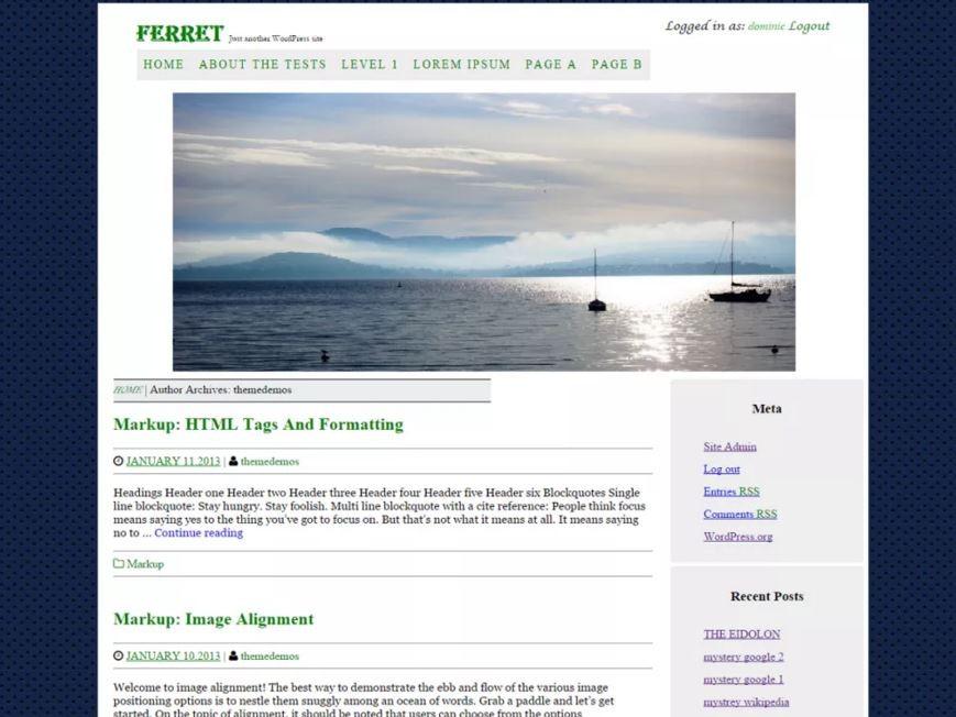 Темы и шаблоны WordPress с выпадающим меню. 1ab0231cc53